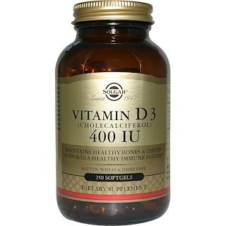Solgar, ビタミンD3, 400 IU, 250ソフトゼリー