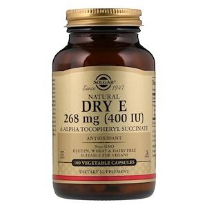 Солгар, Natural Dry E, 268 mg (400 IU), 100 Vegetable Capsules отзывы