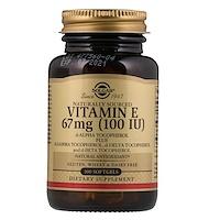 Naturally Sourced Vitamin E, 67 mg (100 IU), 100 Softgels - фото