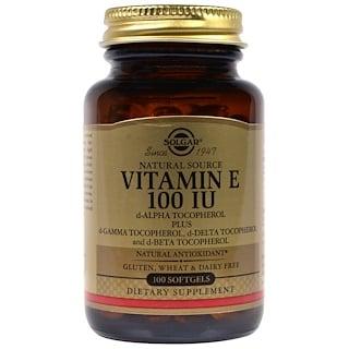 Solgar, ビタミンE, 100 IU, 100ソフトゼリー