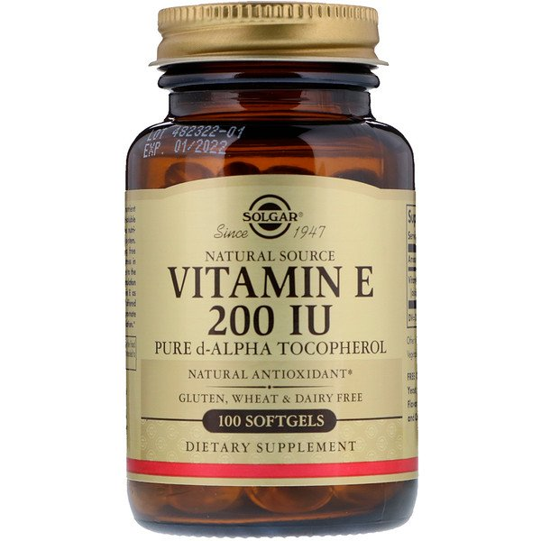 Vitamina E de Origem Natural, 200 UI, 100 Softgels