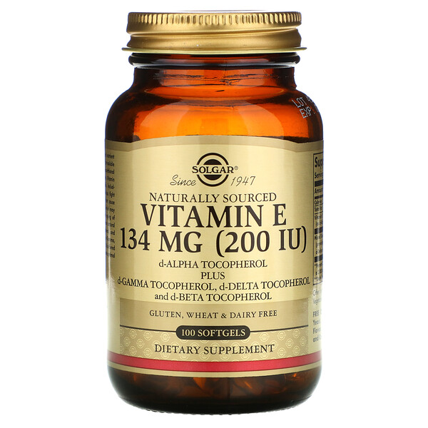 Naturally Sourced Vitamin E, 134 mg (200 IU), 100 Softgels