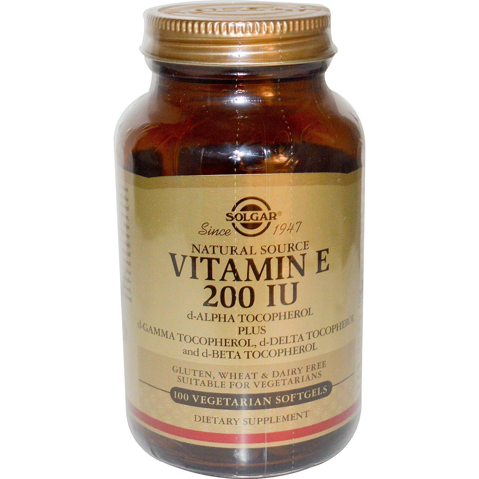 Solgar, Vitamin E, 200 IU, 100 Veg Softgels