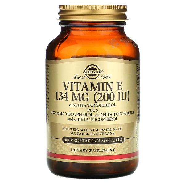 Naturally Sourced Vitamin E, 200 IU, 100 Vegetarian Softgels