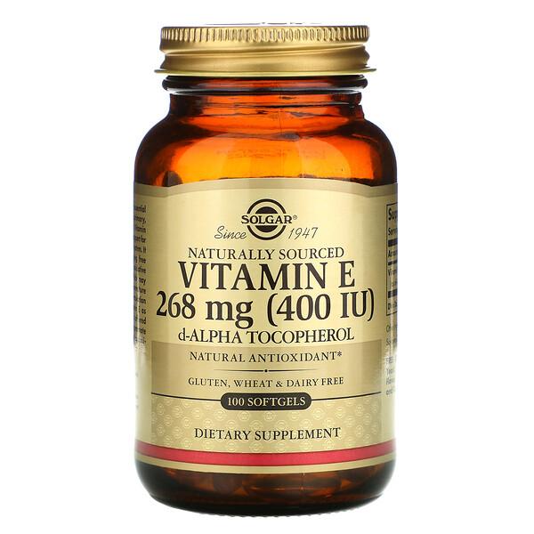 天然ビタミンE、268mg(400IU)、ソフトジェル100粒
