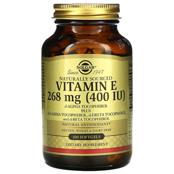 Naturally Sourced Vitamin E, 268 mg (400 IU), 100 Softgels