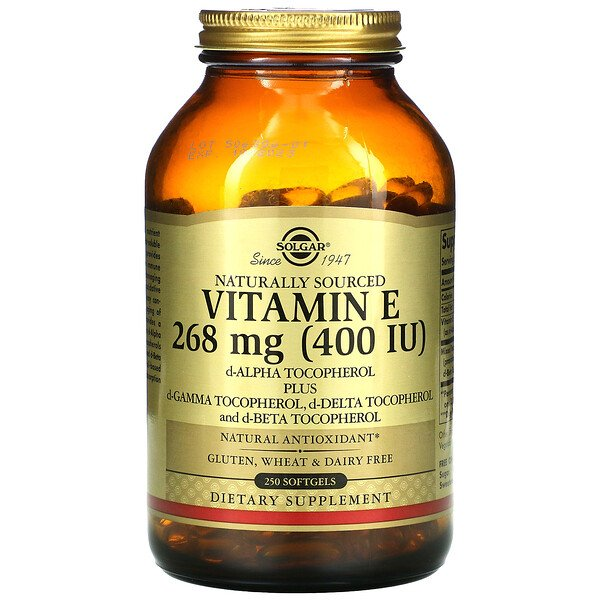 Naturally Sourced Vitamin E, 268 mg (400 IU), 250 Softgels