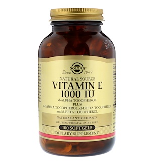 Solgar, Natural Vitamin E, 1000 IU, 100 Softgels