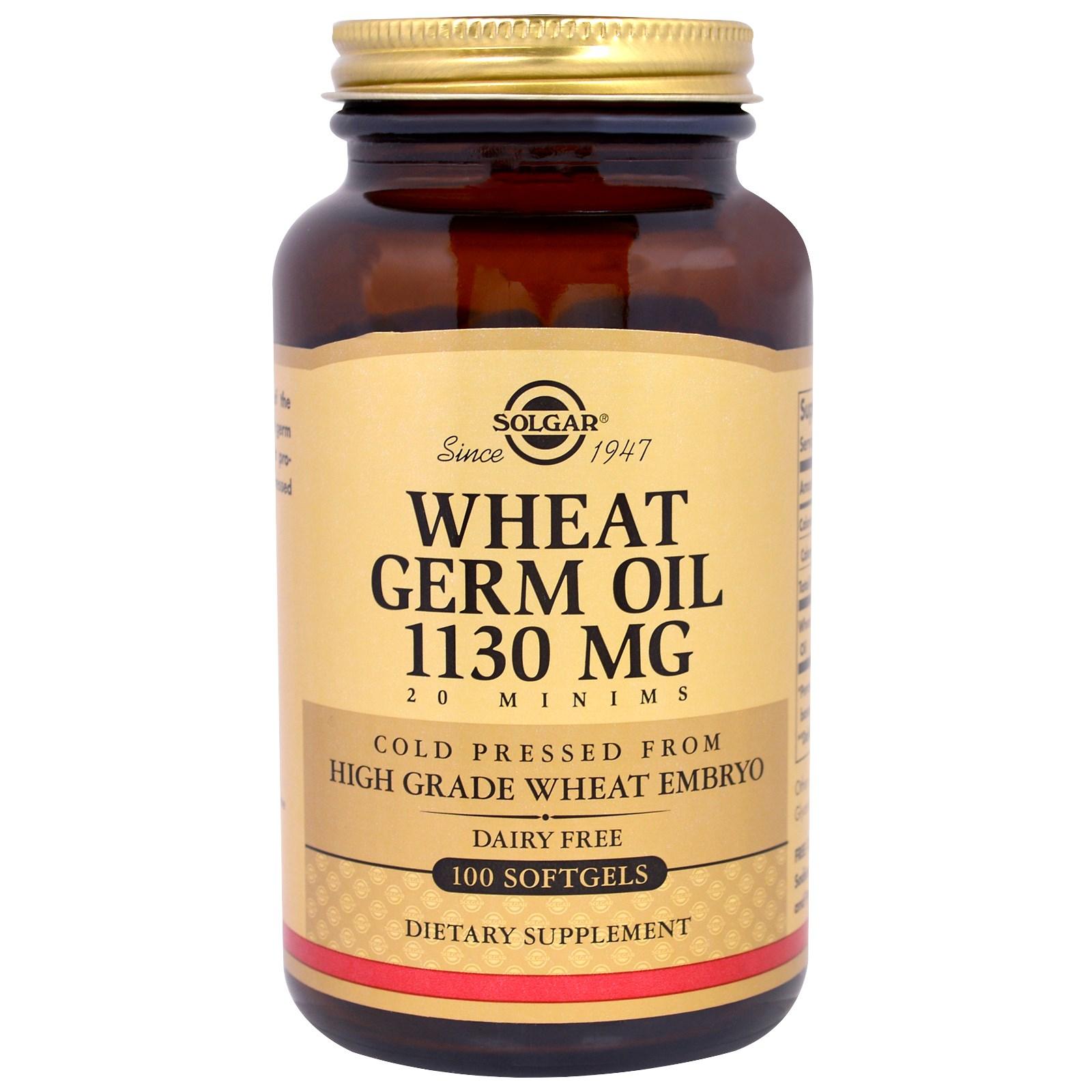 Wheat oil for skin
