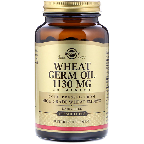 Solgar, Wheat Germ Oil, 1130 mg, 100 Softgels