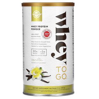 Solgar, Whey To Go,乳清蛋白質粉,香草味,12 盎司(340 克)