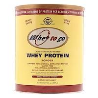Whey To Go, порошок сывороточного белка, натуральный ванильный вкус, 32 унц. (907 г) - фото