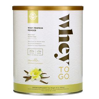 Solgar, Whey To Go, Whey Protein Powder, Vanilla, 33 oz (936 g)