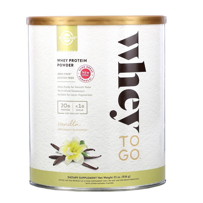 Whey To Go, Whey Protein Powder, Vanilla, 33 oz (936 g)