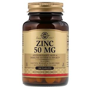 Солгар, Zinc, 50 mg, 100 Tablets отзывы
