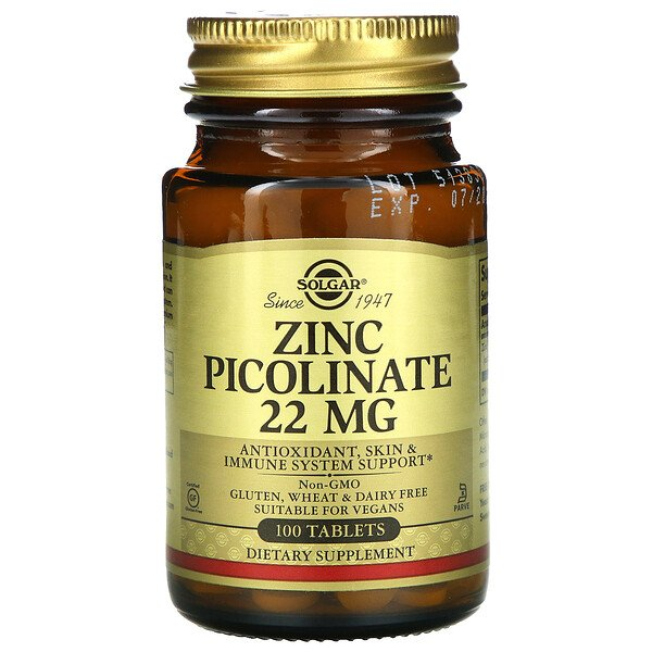 Solgar, Zinc Picolinate, 100 Tablets