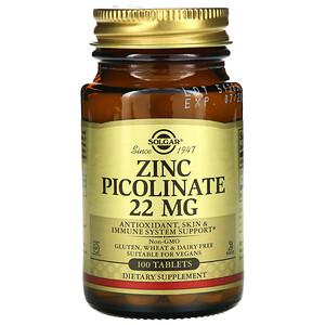 Солгар, Zinc Picolinate, 100 Tablets отзывы покупателей