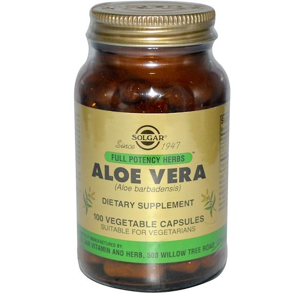 Solgar, Aloe Vera, 100 Veggie Caps (Discontinued Item)