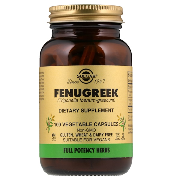 Fenugreek, 100 Vegetable Capsules