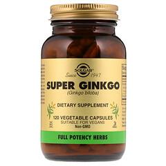 Solgar, Super Ginkgo, 120 Vegetable Capsules