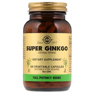 Solgar, Super Ginkgo, 120 Cápsulas Vegetales