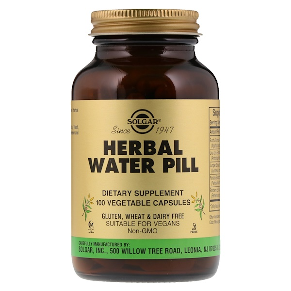 Solgar, Herbal Water Pill, 100 Vegetable Capsules
