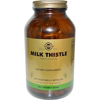 Solgar, Milk Thistle, 250 Vegetable Capsules