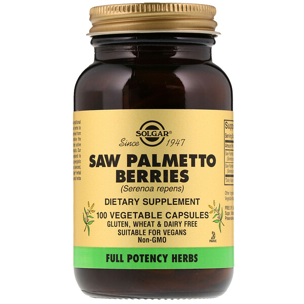 Saw Palmetto Berries, 100 Vegetable Capsules