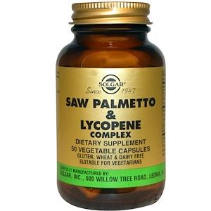 Solgar, Комплекс со пальметто с ликопеном и корой африканской сливы, 50 капсул на растительной основе