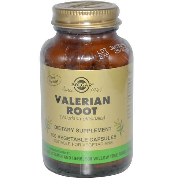 Solgar, Valerian Root, 100 Veggie Caps (Discontinued Item)
