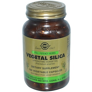 Solgar, Vegetal Silica, 100 Vegetable Capsules
