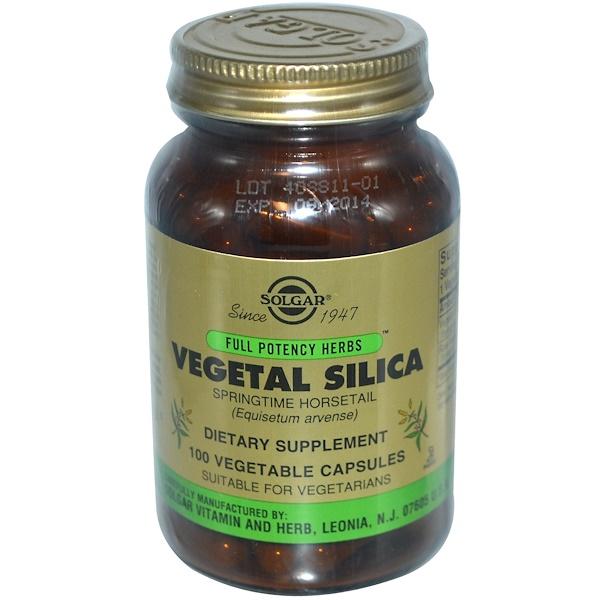 Solgar, Vegetal Silica, 100 Vegetable Capsules