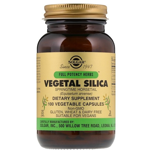 Solgar, Full Potency Herbs, Vegetal Silica, 100 Vegetable Capsules