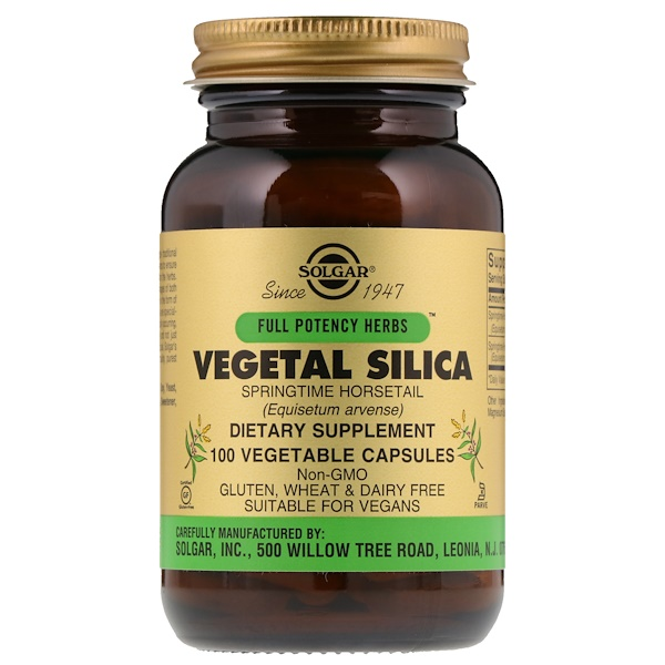 Solgar, Full Potency Herbs, Vegetal Silica, 100 Vegetable Capsules (Discontinued Item)