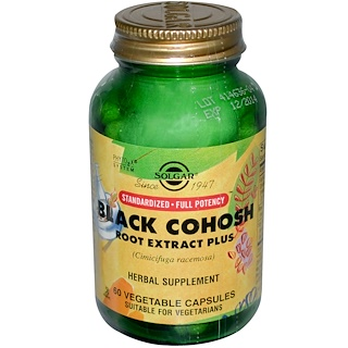 Solgar, Black Cohosh Root Extract Plus, 60 Vegetable Capsules