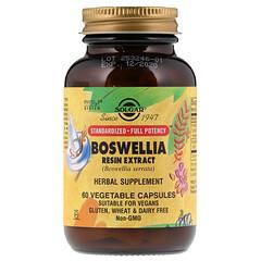 Solgar, Экстракт смолы босвеллии, 60 вегетарианских капсул