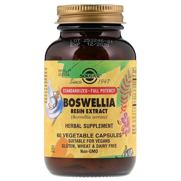 Boswellia Resin Extract, 60 Vegetable Capsules