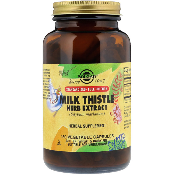 Milk Thistle Herb Extract, 150 Vegetable Capsules