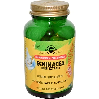 Solgar, Echinacea Herb Extract, 60 Vegetable Capsules