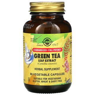Solgar, Green Tea Leaf Extract, 60 Vegetable Capsules