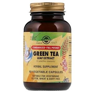 Солгар, Green Tea Leaf Extract, 60 Vegetable Capsules отзывы покупателей