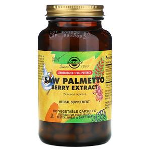 Солгар, Saw Palmetto Berry Extract, 180 Vegetable Capsules отзывы
