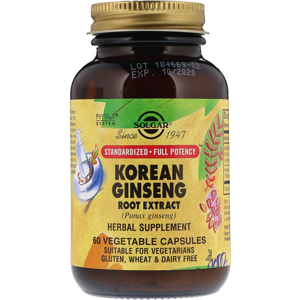 Korean Ginseng Root Extract, 60 Vegetable Capsules