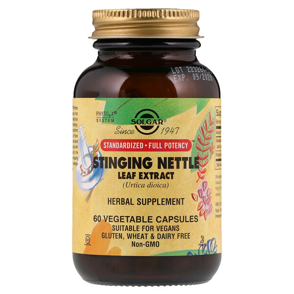 Stinging Nettle Leaf Extract, 60 Vegetable Capsules