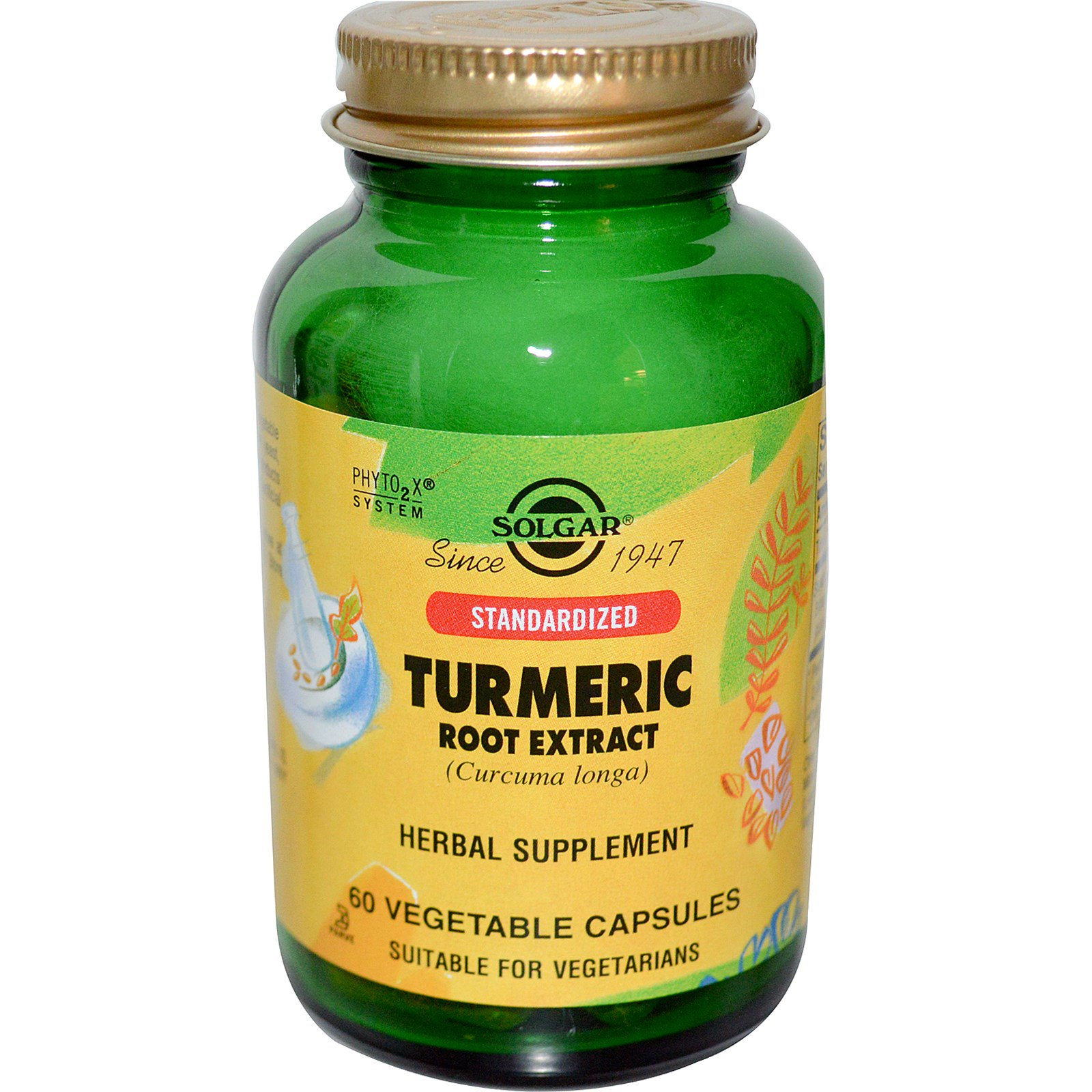 Solgar, Standardized Turmeric Root Extract, 60 Veggie Caps