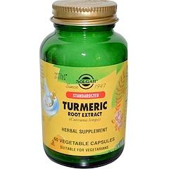 Solgar, Extrait de racine de curcuma, 60 gélules végétales