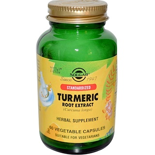 Solgar, Standardized Turmeric Root Extract, 60 Veggie Caps