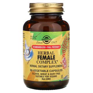Solgar, Herbal Female Complex, 50 Vegetable Capsules