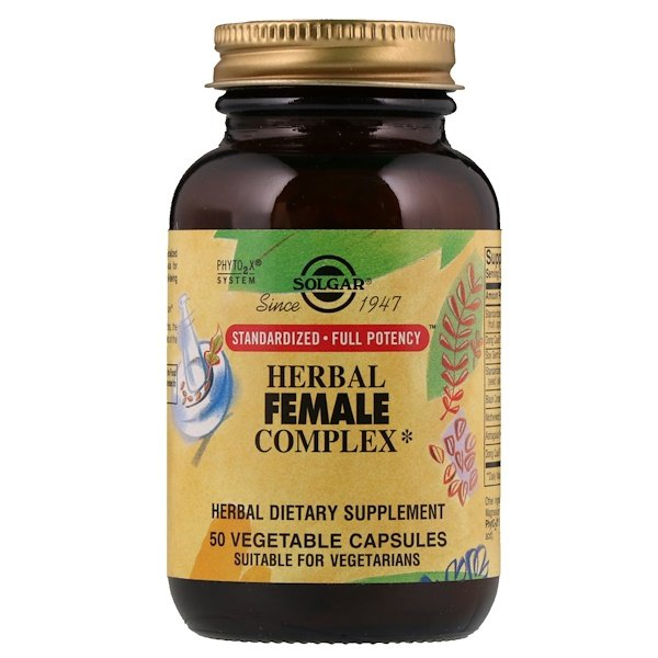 Herbal Female Complex, 50 Vegetable Capsules