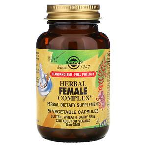 Солгар, Herbal Female Complex, 50 Vegetable Capsules отзывы покупателей